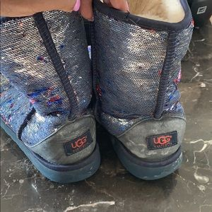 UGG Shoes - Red Silver and Blue Sequence Uggs!